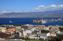 Port Of Messina With The Gold ...