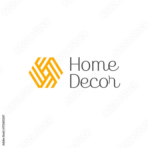 Vector Logo Design For Interior Furniture Shops Decor Items And