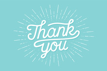Hand Lettering Thank You With ...
