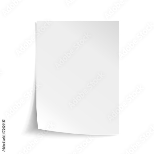 Canvastavla Vector White sheet of paper