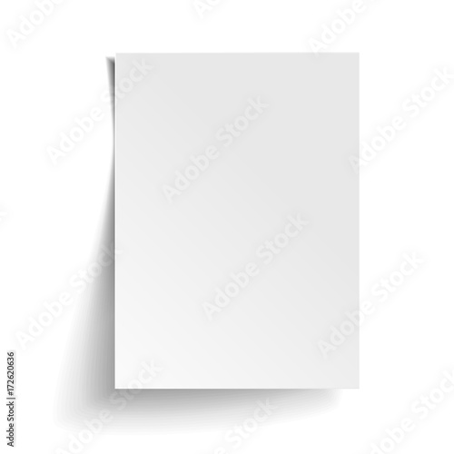 Fotografiet Vector White sheet of paper
