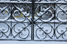 Winter Wrought Fence Gates