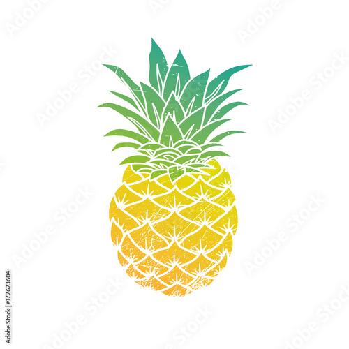 Pineapple modern illustration Wall mural