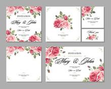 Set Wedding Invitation Vintage...