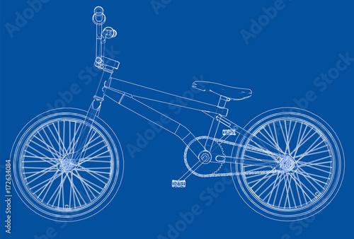 Bicycle bmx. Vector Canvas Print