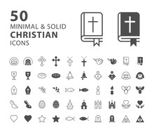 Set Of 50 Minimal And Solid Ch...