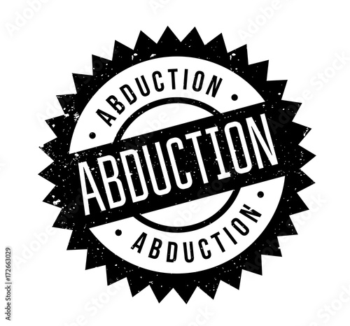 Abduction rubber stamp Wallpaper Mural