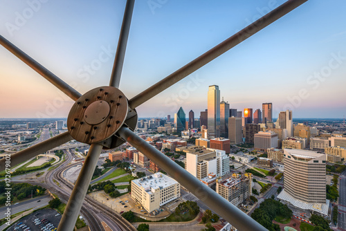 Aluminium Prints Texas Dallas,Texas, USA cityscape from above.