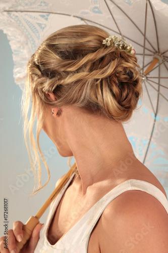 Frisur Mit Blumen Fur Hochzeit Buy This Stock Photo And Explore