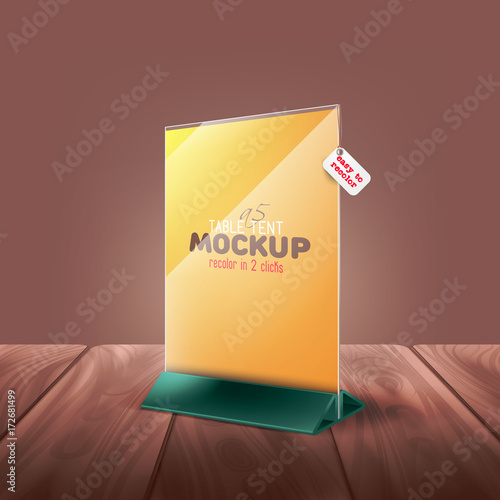 easy to chnage color table tent tabe stand menu card advertising