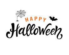 Happy Halloween Handwritten Le...