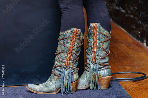 These boots were made for walking, an image of country