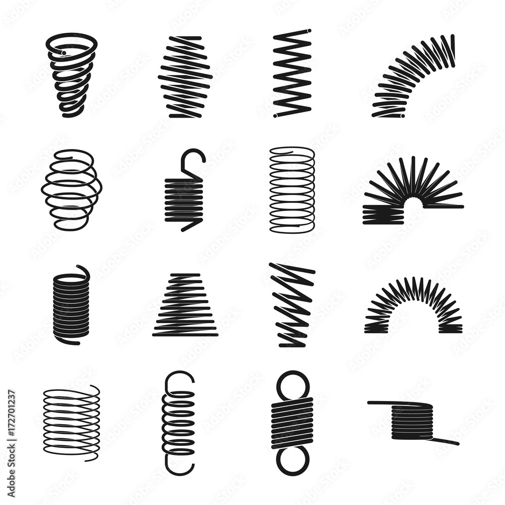 Fototapeta Metal spring icon