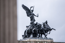 The Chariot Statue At The Top Of Wellington Arch At Constitution Hill, London