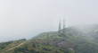 Telephone tower on the mountain