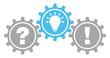 Gears Question, Idea & Answer Grey/Blue