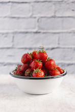Stack Of Strawberries In Bowl ...