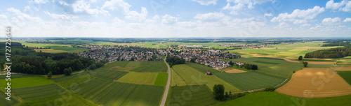 Luftaufnahme von ländlicher Region