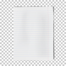 A4 Sheet Of Lined Paper Isolat...