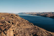 Columbia River Far Below Rocky...