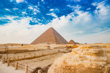 The pyramid in Cairo, Egypt