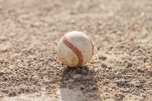 Baseball Ball On Field