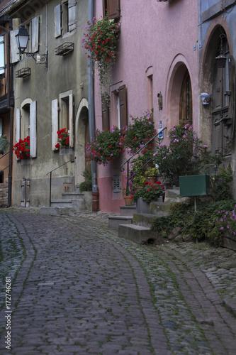 Canvas Prints Narrow alley Eguisheim, Alsazia, Francia
