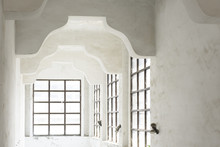 Old White Room With Windows
