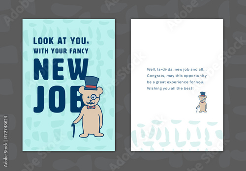 New job greeting card layout 12 buy this stock template and explore new job greeting card layout 12 m4hsunfo
