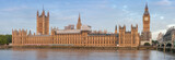 Fototapeta Big Ben - Panoramic view of Palace of Westminster in the morning
