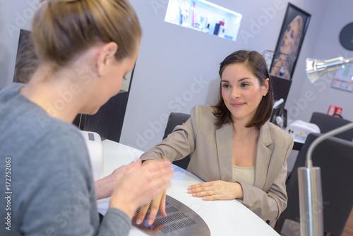 Fototapety, obrazy: female at the manicurist