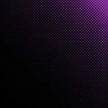 Abstract Geometric Halftone Dot Pattern Background - Vector Design From Purple Circles In Varying Sizes On Black Background