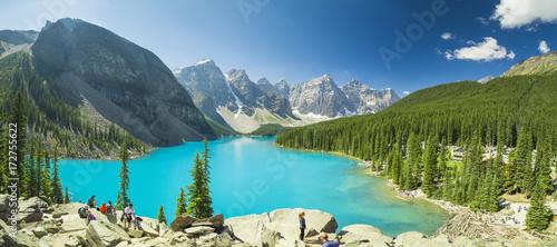 Spoed Foto op Canvas Canada Moraine Lake British Columbia Canada