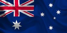 Waving Flag Of The Australia. ...