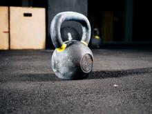 Kettlebells In Fitness Gym