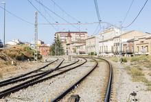 Train-station At Tarrega City, Province Of Lleida, Catalonia, Spain