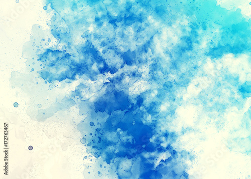 Watercolor Light Blue Wallpaper Background Abstract Art Design Good For