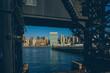sunrise scene of Manhattan, New York City, USA