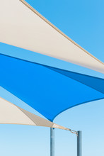 Blue And White Shade Sails