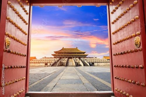 forbidden city in beijing,China Canvas Print