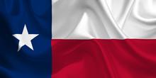 Waving Flag Of The Texas. Flag...