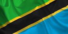 Waving Flag Of The Tanzania. F...