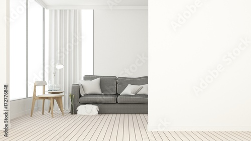 3d Rendering The Interior Relax Space Furniture And Background White  Decoration Minimal   Empty Space