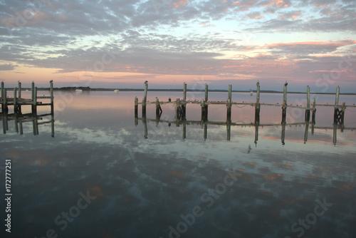 Old shrimp boat docks at the Fernandina Beach Marina.