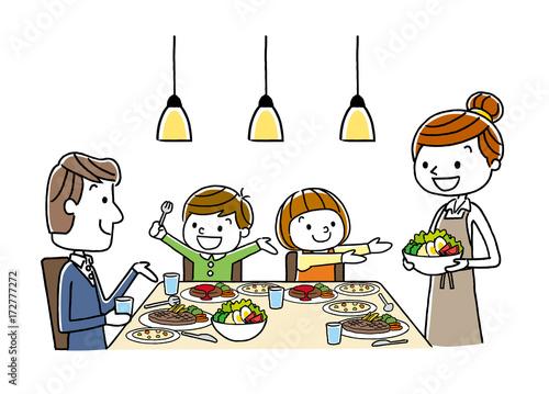 Photo 家族:食事、食卓、夕食