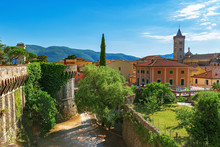 Top View Of Small Town Sarzana...