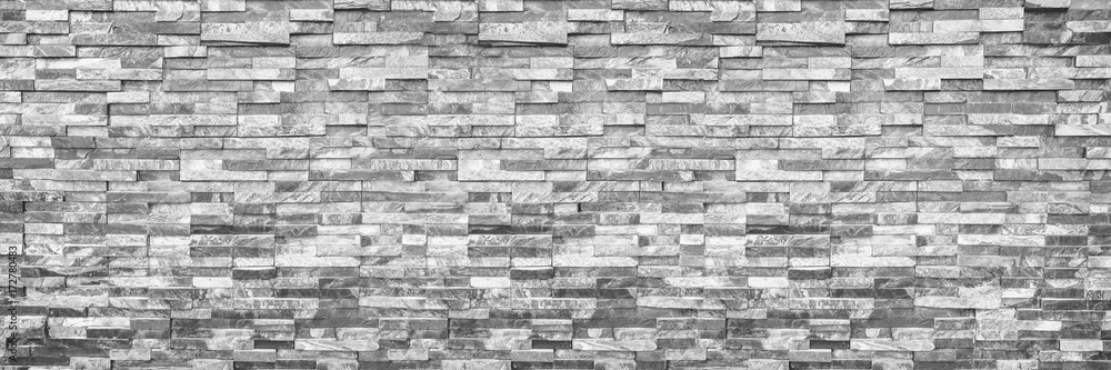 Fototapety, obrazy: horizontal modern brick wall for pattern and background