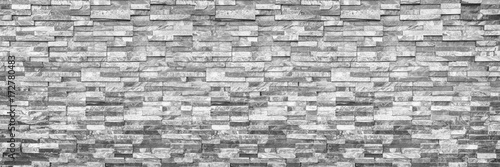 Poster Wand horizontal modern brick wall for pattern and background