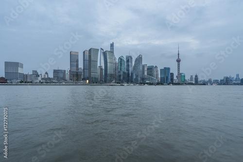 Plakat Szanghaj cityspace i skyline