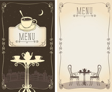 Vector Menu For A Cafe Or Rest...